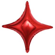 "3 Pack | 23"" Red Star Shape Foil Mylar Balloons 