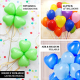"25 Pack | 12"" Royal Blue HAPPY HEART Wholesale Latex Balloons Helium"