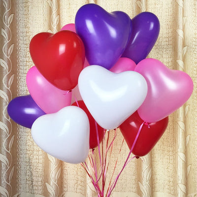 "25 Pack | 12"" Green HAPPY HEART Latex Balloons"