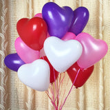 "25 Pack | 12"" Purple HAPPY HEART Latex Balloons"