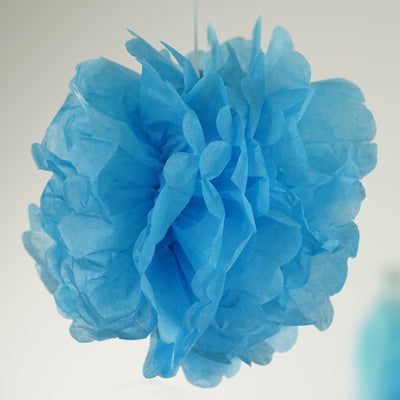 47 Pcs Blue/White Decoration Kit with Foil Latex Wholesale Mylar Balloon and Pom Tassels