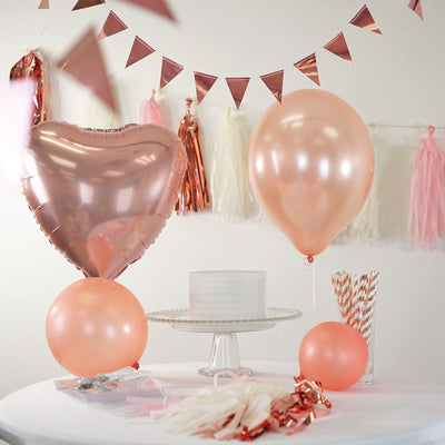 32 PCS Rose Gold Party Decoration Supply Kit