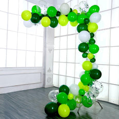 120 Pack DIY Balloon Garland Kit, Balloon Arch Party Decorations - Green | White | Jade | Clear