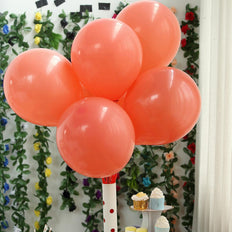 "25 Pack | 10"" Pastel Coral Round Latex Balloons 