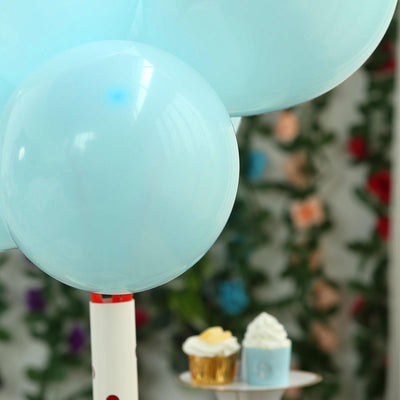"25 Pack | 10"" Pastel Light Blue Round Latex Balloons 