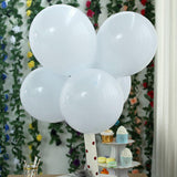 "25 Pack | 12"" Pastel Ice Blue Round Latex Balloons 