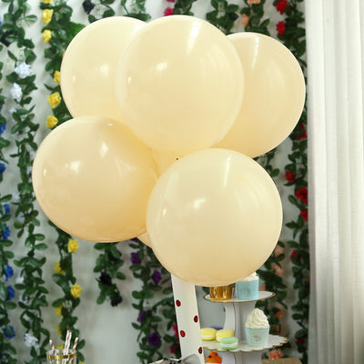 "25 Pack | 12"" Pastel Champagne Round Latex Balloons 