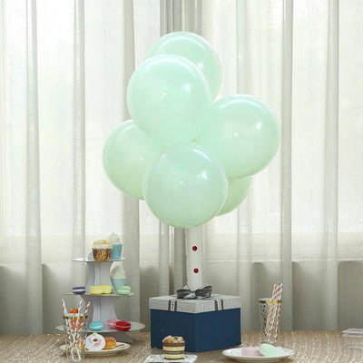 "25 Pack | 12"" Pastel Mint Round Latex Helium Balloons 