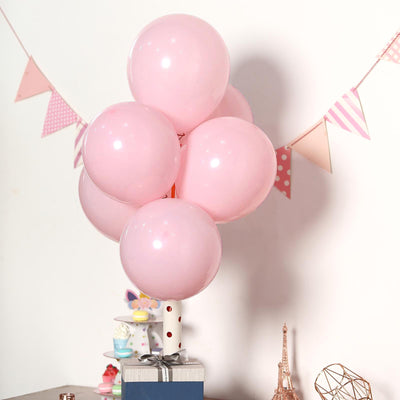 "25 Pack | 12"" Pastel Pink Round Latex Balloons 