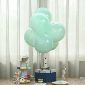 "25 Pack | 12"" Pastel Turquoise Round Latex Balloons 