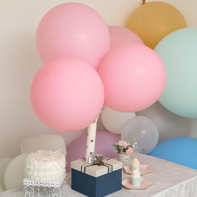 "10 Pack | 18"" Pastel Blush Round Latex Balloons 