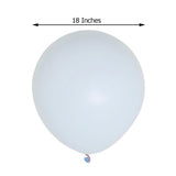 "10 Pack | 18"" Pastel Ice Blue Round Latex Balloons 