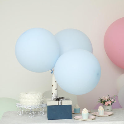 "10 Pack | 18"" Large Pastel Ice Blue Round Latex Balloons 