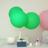 "10 Pack | 18"" Large Green Round Latex Balloons 