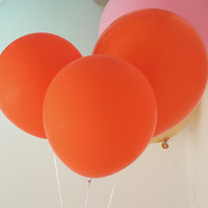 "10 Pack | 18"" Orange Round Latex Balloons 