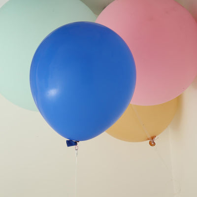 "10 Pack | 18"" Large Royal Blue Round Latex Balloons 