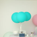 "10 Pack | 18"" Large Turquoise Round Latex Balloons 