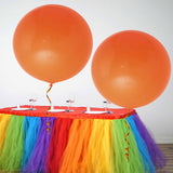 "2 Pack | 32"" Large Orange Round Latex Balloons 
