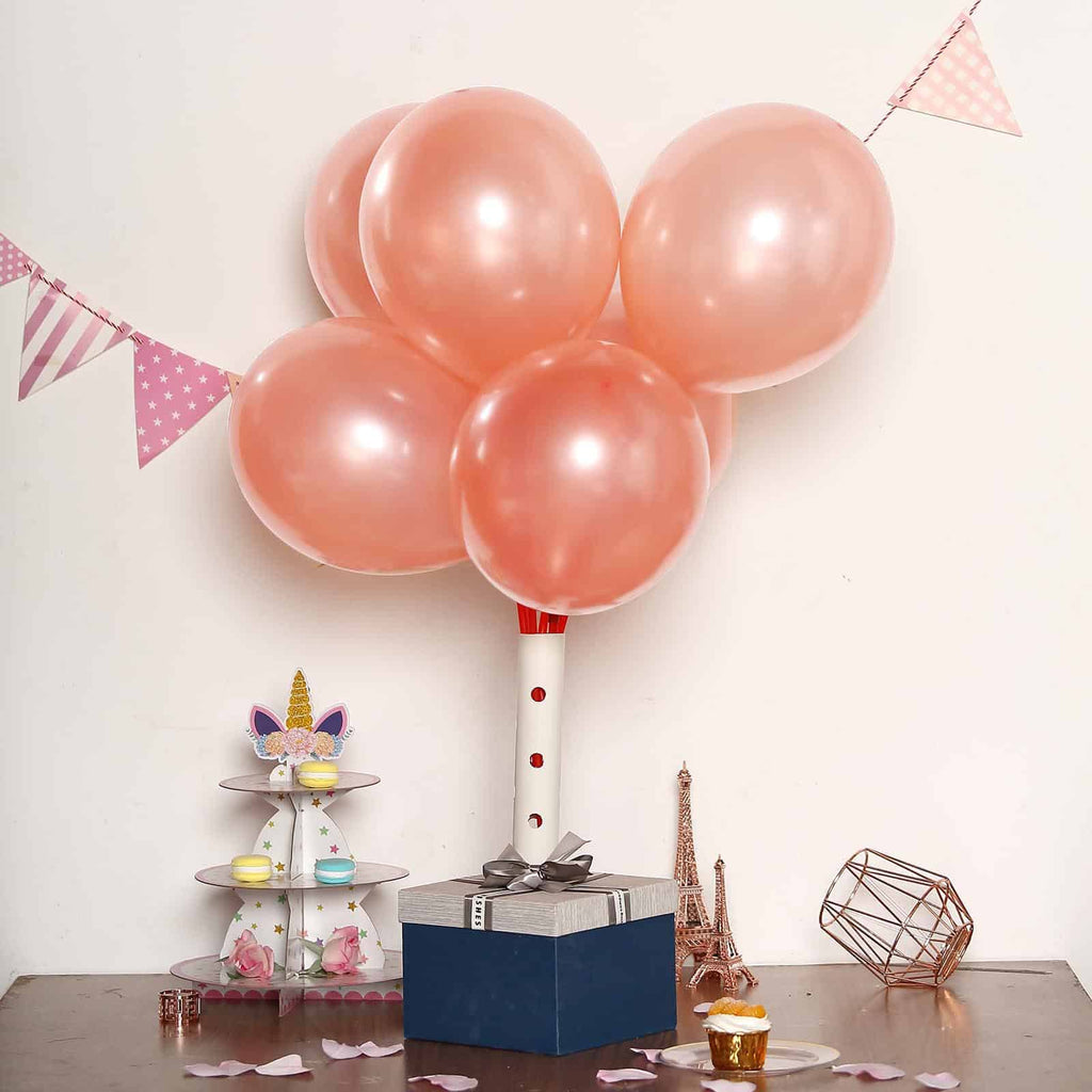 """Rose Gold 11/"""" Pearl Helium or Air Balloons Decorators Quality Special Price"""