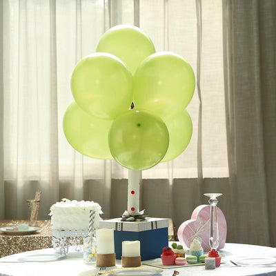 "25 Pack | 12"" Apple Green Pearl Balloons 