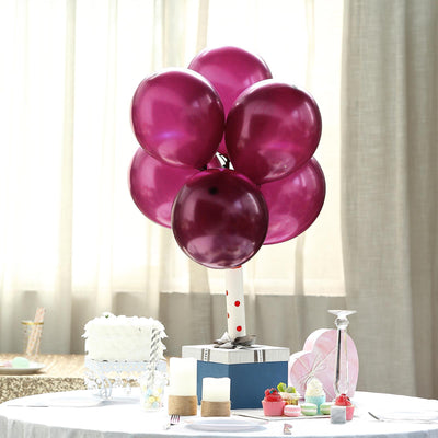 25 Pack - 12 Inch Eggplant Pearl Balloons - Water Air Helium Party Latex Balloons