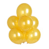 "25 Pack 12"" Gold Chrome Wholesale Latex Balloons Helium"