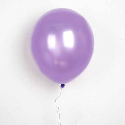 "25 Pack 12"" Lavender Chrome Latex Water Air Helium Party Balloons"