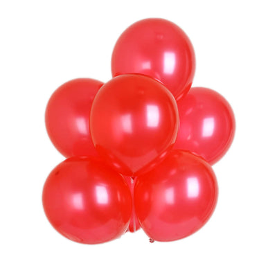 "25 Pack 12"" Red Chrome Wholesale Latex Balloons Helium"
