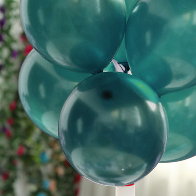 "25 Pack | 12"" Willow Green Pearl Balloons 