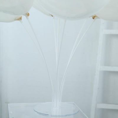 "Set of 2 | 30"" Clear Balloon Stand Kit 