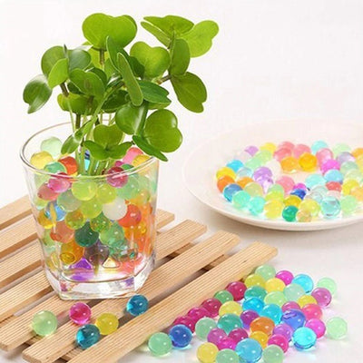 10 grams | Light Blue BIG Round Deco Water Beads Jelly Vase Filler Balls
