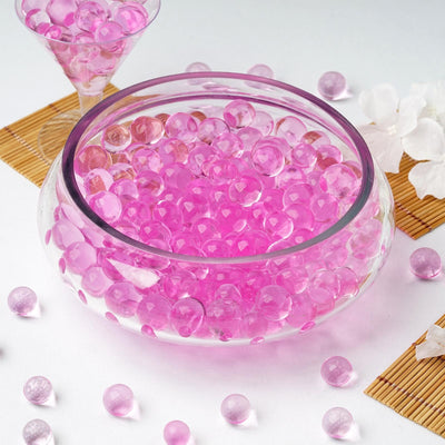 10 grams | Pink BIG Round Deco Water Beads Jelly Vase Filler Balls