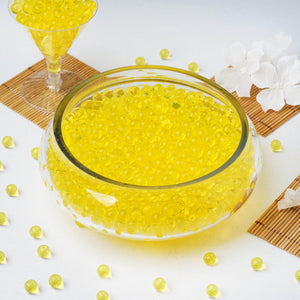10 grams | Yellow BIG Round Deco Water Beads Jelly Vase Filler Balls