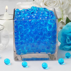 200 to 250 PCS | Blue Small Round Deco Water Absorbing Beads Jelly Vase Filler Balls