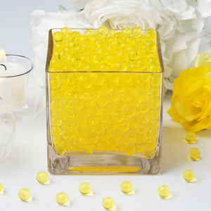 200 to 250 PCS | Yellow Small Round Deco Water Beads Jelly Vase Filler Balls