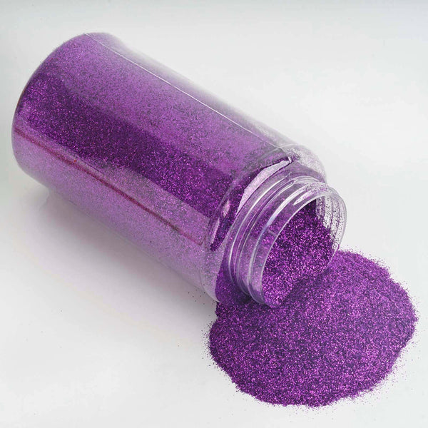 1 Pound Purple DIY Art & Craft Glitter Extra Fine With Shaker Bottle