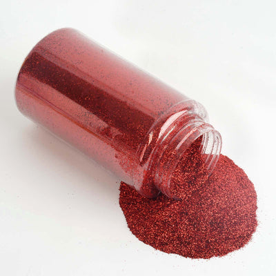 1 Pound Red DIY Art & Craft Glitter Extra Fine With Shaker Bottle