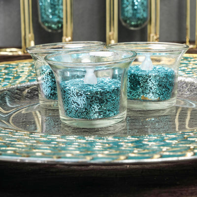1 Pound Turquoise DIY Art & Craft Confetti Glitters | Chunky Glitter with Shaker Bottle