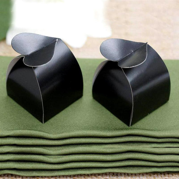 100 PCS Black Heart Top Favor Box