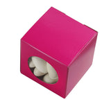 "100 PCS | 2"" Square Fushia Ballotin Favor Boxes"