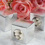 "100 PCS | 2"" Square Silver Ballotin Favor Boxes"
