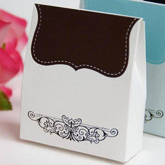100 PCS Chocolate Tapestry Favor Boxes