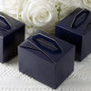 "100 PCS | Navy Tote Favor Boxes - 4""x3""x3"""