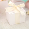 "100 PCS | White Tote Favor Boxes - 4""x3""x3"""