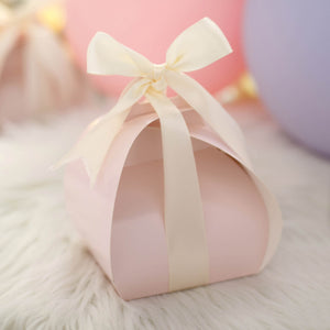 25 Pack | Rose Gold/Blush Cupcake Party Favor Boxes