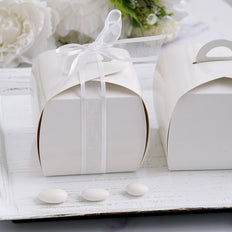 25 Pack | White Cupcake Party Favor Boxes - Clearance SALE