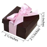 "100 Pack | Chocolate 2 Pcs Favor Boxes - 2.5"" x 2.5"" x 1.5"""