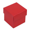 "100 Pack | Red 2"" square 2 Pcs Favor Boxes"