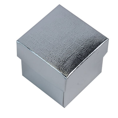 "100 Pack | Silver 2"" Square 2 Pcs Favor Boxes"