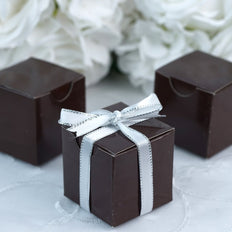 "100 Pcs | 2""x2"" Chocolate Party Favor Boxes"